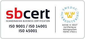 Falks Markentreprenad ISO 900 _14001 45001 logga